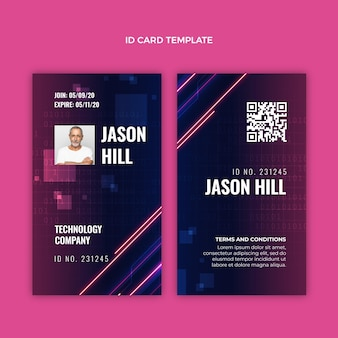 Gradient abstract technology id card