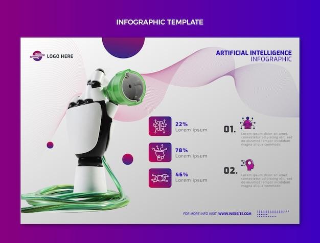 Infografica di tecnologia astratta sfumata