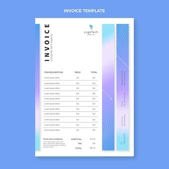 Счет-фактура градиентной абстрактной технологии
