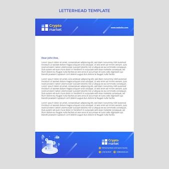 Gradient abstract technology letterhead