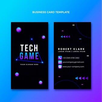 Градиент абстрактной технологии вертикальной визитной карточки