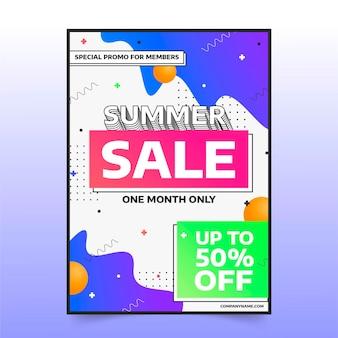 그라데이션 추상 세로 판매 포스터 템플릿