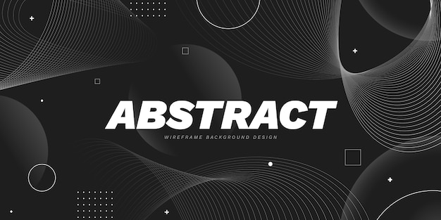 Gradient abstract wireframe background Free Vector