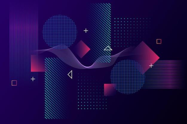 グラデーションの抽象的なワイヤーフレームの背景