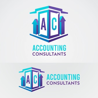 Logo di consulenti contabili gradiente
