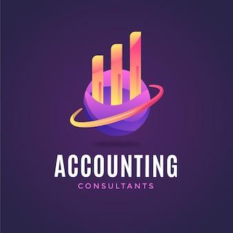 Gradient accounting logo on dark background
