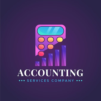 Logo di contabilità gradiente su sfondo scuro