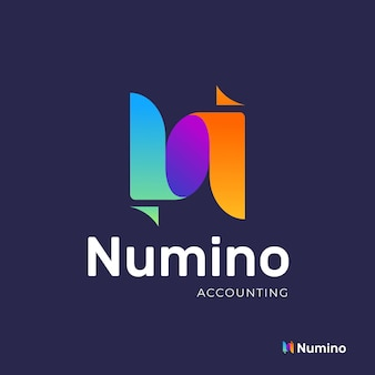 Gradient accounting logo template