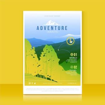 Gradient adventure flyer