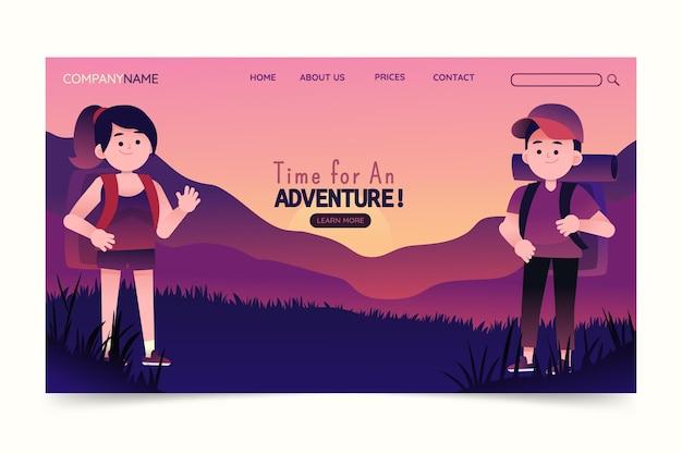 Шаблон целевой страницы градиентного приключения