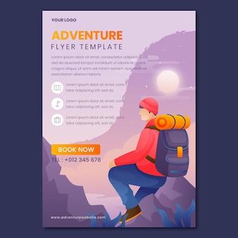 Gradient adventure vertical flyer template