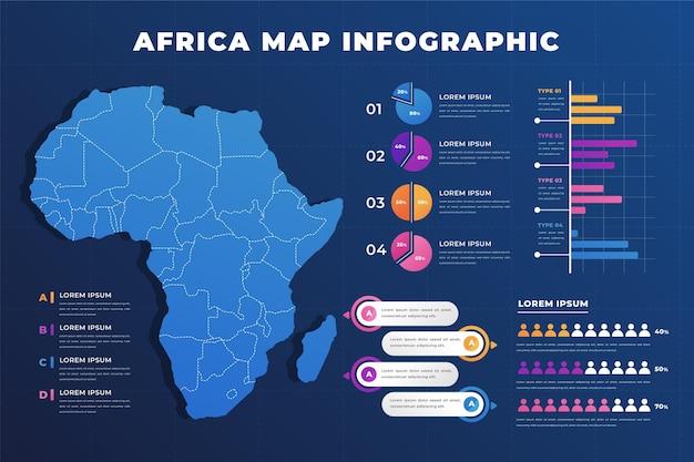 Градиент африки карта инфографики