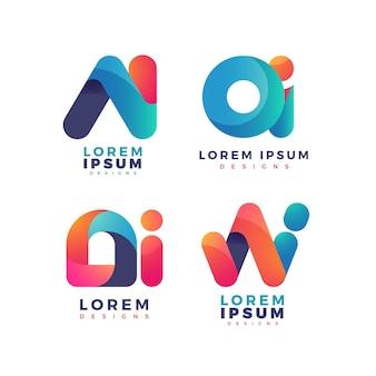 Коллекция градиентных логотипов ai