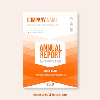 Gradient annual report cover template