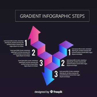 Gradient arrow infographic background