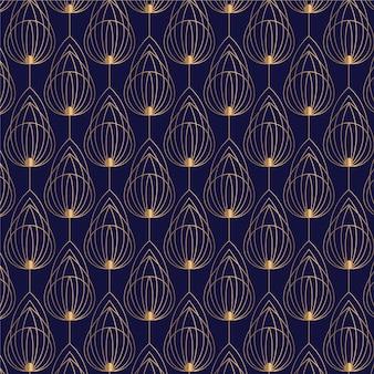 Gradient art deco pattern design