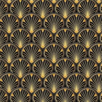 Gradient art deco pattern