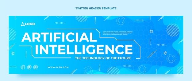 Gradient artificial intelligence twitter header