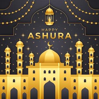 Illustrazione di ashura sfumata