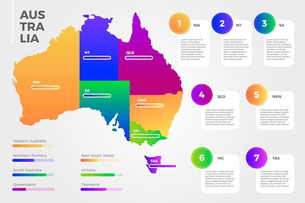그라데이션 호주지도 infographic