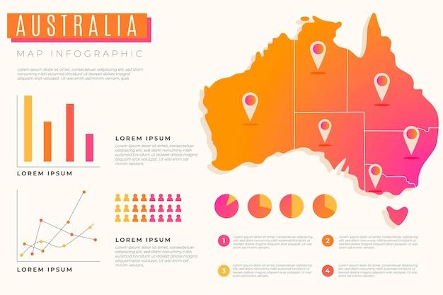 그라디언트 호주지도 infographic