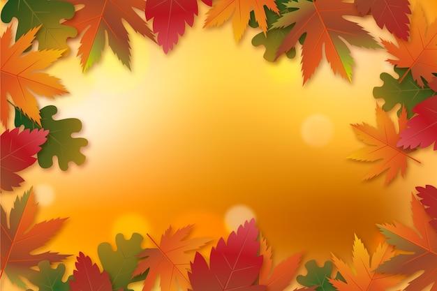 Gradient autumn background