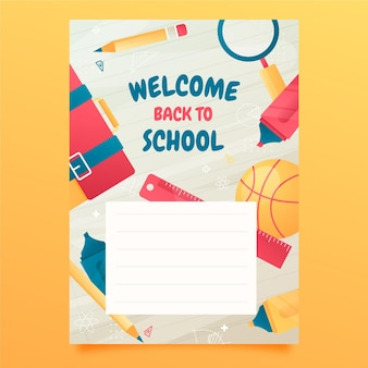 Gradient back to school card template