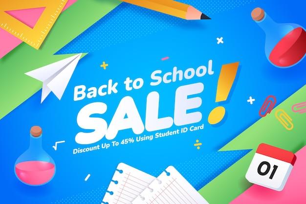 Gradient back to school sales background