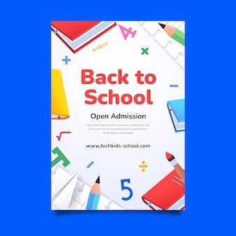 Gradient back to school vertical flyer template
