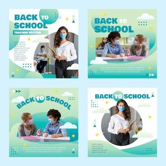 写真付きの学校のインスタグラム投稿コレクションに戻るグラデーション