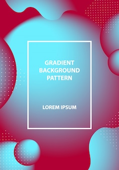 Gradient background modern with colorful style color