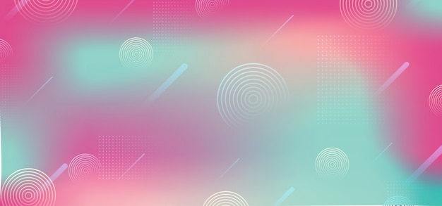 Gradient background with abstract holographic colors shape