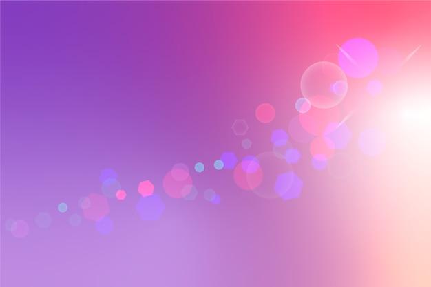 Градиентный фон с эффектом боке