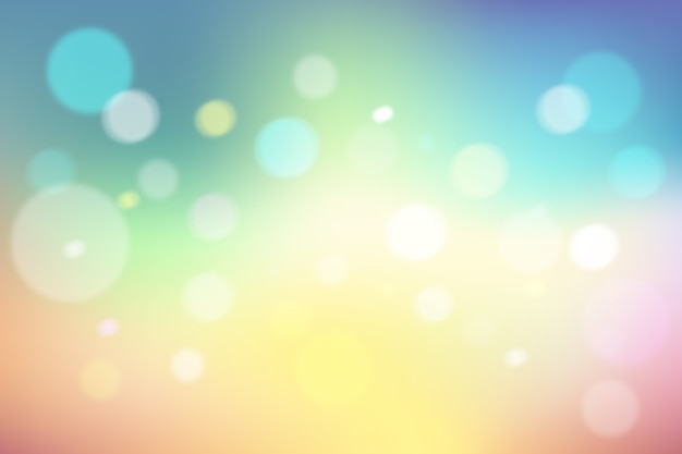Gradient background with bokeh effect