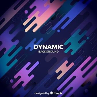 Gradient background with dynamic shapes