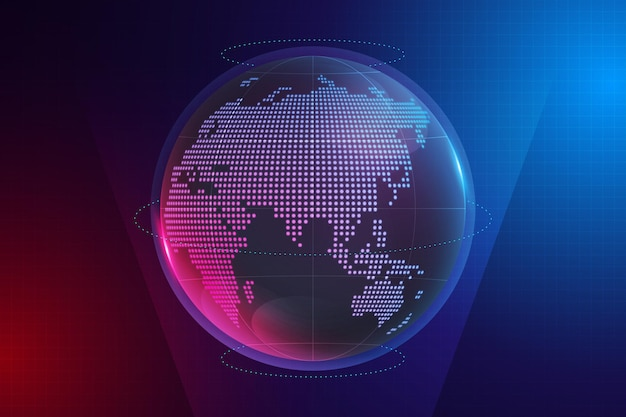 Gradient background with earth globe