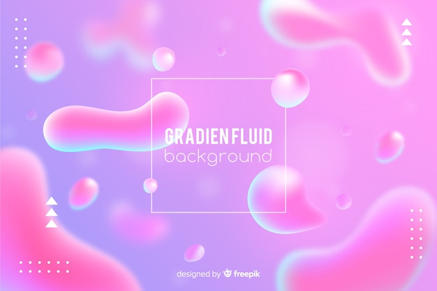 Gradient background with fluid shapes