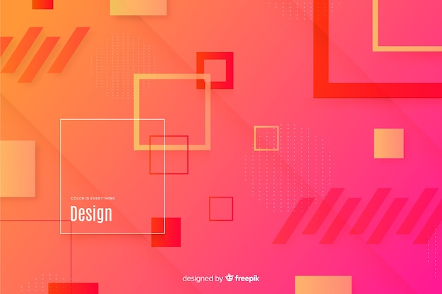 Gradient  background with geometrical shapes