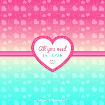 Gradient background with hearts
