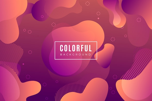 Gradient background with liquid shapes