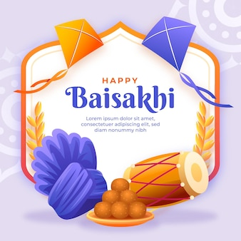Illustrazione gradiente baisakhi