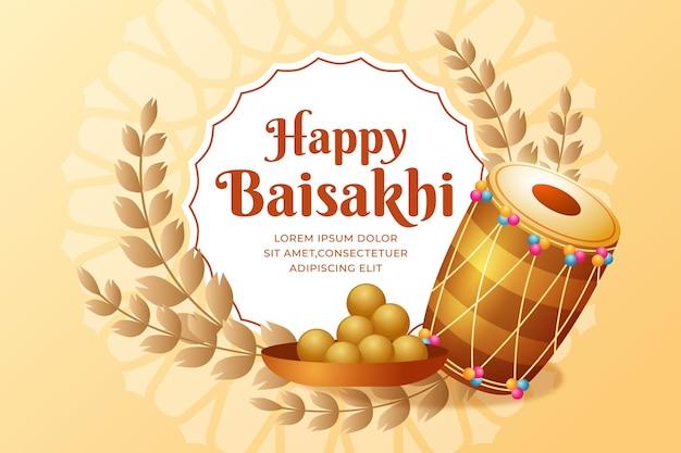 Illustrazione di baisakhi gradiente