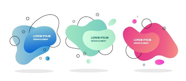 流動的なフォームのグラデーションバナー