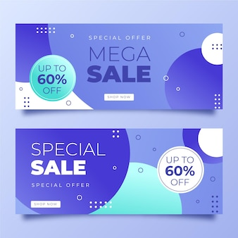 Gradient banners design template