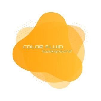 流れる液体のグラデーションバナーロゴのダイナミックアートフォームさまざまな液体流体