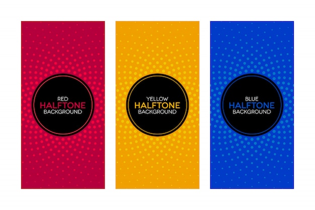 Gradient banners with halftone textures