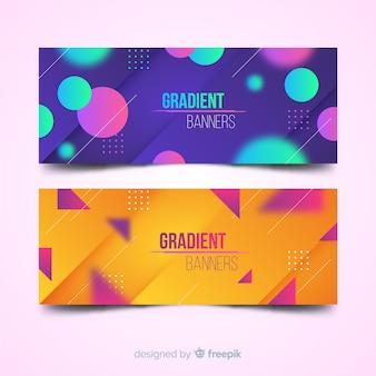 Gradient banners