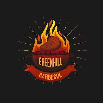 Gradient barbecue logo template