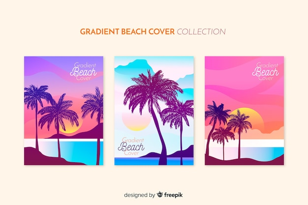 Gradient beach cover collection