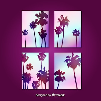 Gradient beach cover templates collection